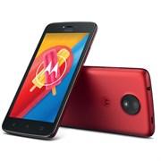 "(1010936) Смартфон Motorola C 4G XT1754 MT6737Mx4, 1GB, 16Gb,  5""(854x480) 2sim, Android 7.0, Красный, 3G, Cam 5Mpix, WiFi, BT, GPS, 2350mAh"