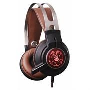 (1011003) Наушники с микрофоном A4 Bloody G430 черный/коричневый 2.2м мониторы