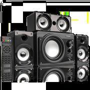 (1010996) Акустическая система 3.1 CROWN CMBS-390 (МДФ, Bluetooth, 15W+8W*3=39W; приёмник FM; картридер; интерфейс USB; IR пульт, дополнительная фронтальная колонка)