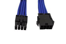 (1011009) Кабель удлинитель 8-pin PCI-E, 25см, KS-is (KS-334) индивидуальная оплетка, синий