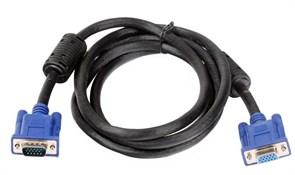 (101590)  Кабель удлинительный VGA (M) -> VGA (F),  5.0m, VCOM (VVG6460-5), ферритовые кольца