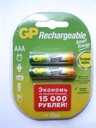 (1010978) Аккумулятор GP Smart Energy 40AAAHCSV AAA NiMH 400mAh (2шт)