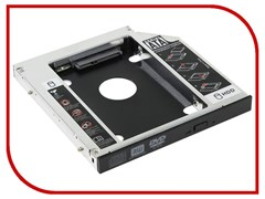 """(195361)  Адаптер оптибей Orient UHD-2SC12 (для подключения HDD/SSD 2.5"""" к ноутбуку вместо оптического привода 12.7мм)"""