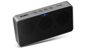 (212998) Портативная колонка Sven PS-80BL (2.0) 2х3 Вт, FM, microSD, Bluetooth, встроенный аккумулятор, цвет черный