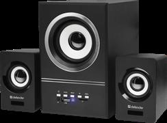 (212679) Колонки Defender V10, 2.1, 11Вт, FM, MP3, SD/USB, питание от USB
