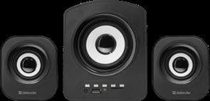 (212680) Колонки Defender Z6 , 2.1, черные, 11 Вт, FM, SD/USB, питание от USB