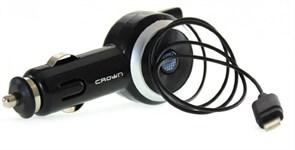 (1011072) Автомобильное зарядное устройство для Phone CMDC-IP5-014 (Штекер lightning, сила тока 1А, длина 70см, автосмотка)