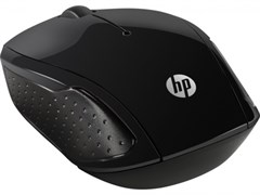 (1011190) Мышь HP 200 черный оптическая (1000dpi) беспроводная USB для ноутбука (2but)