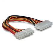 (100727)  Удлинитель кабеля питания материнской платы  24 (M) -> 24 (F), 20 cм