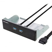 (1011227) CROWN CMU3-20 Панель с двумя портами USB 3.0 в слот 5.25 компьютерного корпуса.
