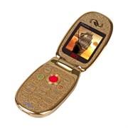 """(1011258) Мобильный телефон BQM-1405 Phoenix Золотой 1.44"""""""