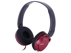 (1011256) Наушники накладные Sony MDRZX310R.AE 1.2м красный проводные (оголовье)