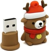 (1011376) Накопитель USB Flash  16Gb Smartbuy Медведь (SB16GBCaribou), USB2.0