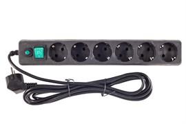 (1011552) Сетевой фильтр Гарнизон EHB-10 3.0 м 6р черный.