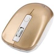 (1011519) Мышь беспров. Gembird MUSW-400-G, 2.4ГГц, розовый/золотой, бесшумный клик, 3кн+колесо-кнопка, 1600 DPI, батарейки в комплекте, блистер