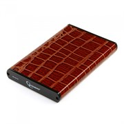 """(1011490) Внешний корпус 2.5"""" Gembird EE2-U3S-70L-BR, коричневый, USB 3.0, SATA, металл+кожзам, блистер"""