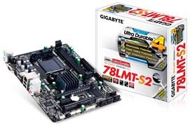 (1011631) Материнская плата Gigabyte GA-78LMT-S2 Soc-AM3+ AMD 760G 2xDDR3 mATX AC`97 8ch(7.1) GbLAN RAID+VGA