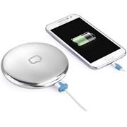 (1011657) Портативное зарядное устройство Qumo PowerAid Charm, литий-полимерный, 3000 мА-ч, 1 USB 1A, вход 1А, форма пудренницы с зеркалом