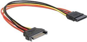 (1011737) Удлинитель кабеля питания SATA Cablexpert CC-SATAMF-01, 15pin(M)/15pin(F), 30см