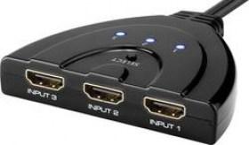 (1011724) Переключатель HDMI электронный, Cablexpert DSW-HDMI-35 HD19Fx3/19F, 3 устройства -> 1 монитор/ТВ, пульт ДУ
