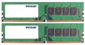 (1011835) Patriot DDR4 DIMM 16GB Kit 2x8Gb PSD416G2400K {PC4-19200, 2400MHz}