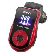 (1011878) Автомобильный FM-модулятор Ritmix FMT-A720 красный SD USB PDU