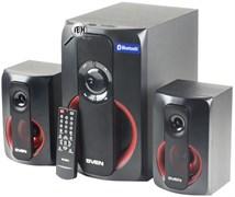 (211715) Колонки Sven MS-304 (2.1), цвет черный, FM-тюнер, ПДУ, USB и SD разъемы, Bluetooth
