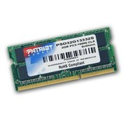 (1011969) Модуль памяти для ноутбука 2GB PC10600 DDR3 SO PSD32G13332S PATRIOT