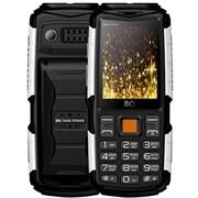 (1011983) Мобильный телефон  BQ-2430 Tank Power Чёрный+Серебро 4000 мАч