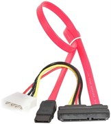 (1012036) Кабель Combo SATA Cablexpert CC-SATA-C1, molex+SATA/SATA, 15pin+7pin, (длина инт - 35см, питание - 15см), пакет