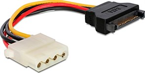 (1012033) Кабель питания SATA Cablexpert CC-SATA-PS-M, 15см, sata 15pin/molex 4pin, пакет