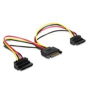 (1012032) Кабель питания SATA Cablexpert CC-SATAM2F-02, 15см, 15pin (M)/2x15pin(F) на 2 SATA устр, угл. разъем
