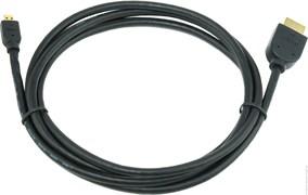 (1012008) Кабель HDMI-microHDMI v1.3, 1.8м, Cablexpert CC-HDMID-6, 19M/19M, черный, позол.разъемы, экран, пакет