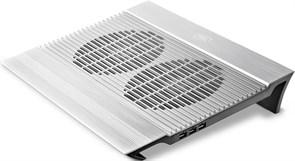 """(1012083) Подставка для ноутбука Deepcool N8 17""""380x278x55мм 25.1дБ 4xUSB 2x 140ммFAN 1245г алюминий серебрист"""