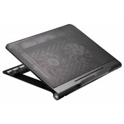 """(1012082) Подставка для ноутбука Buro BU-LCP170-B214 17""""398x300x29мм 2xUSB 2x 140ммFAN 926г металлическая сетк"""