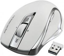 (1012148) Мышь Hama H-53878 белый лазерная (1600dpi) беспроводная USB для ноутбука (4but)