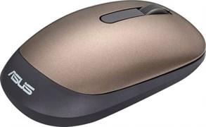 (1012144) Мышь Asus WT205 золотистый оптическая (1600dpi) беспроводная USB2.0 для ноутбука (2but)