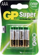 (1012122) Батарейка GP Super Alkaline 24ARS LR03 AAA (4шт) спайка