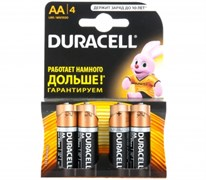 (1012112) Батарейка Duracell Basic LR6-4BL AA (4шт)