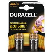 (1012111) Батарейка Duracell Basic LR03-4BL AAA (4шт)