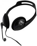 (1012154) Гарнитура CROWN CMH-100 (Подключение 2*jack 3.5мм spk+mic,Частотный диапазон: 20Гц-20,000 Гц ,Кабель 2.1м, регулировка громкости, микрофон на ножке)