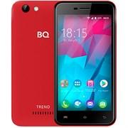 "(1010963) Смартфон BQ-5000L Trend MT6737V/W x4, 1gb, 8gb, 5"" (1280x720), 2sim Android 7.0, Красный, 3G, 4g, WiFi, GPS, BT, Cam, 2100mAh"