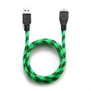 (1012214) Кабель USB 3.0 Konoos KC-mUSB3ng, AM/microBM 9P, 1м, зеленый, нейлоновая оплетка, коробка