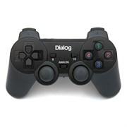 (1012267) Геймпад Dialog Action <GP-A11RF Black> (Vibration 12кн 8 поз.перекл 2 мини-джойстика беспроводной USB)
