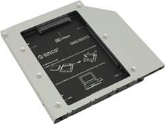 (1012262) ORICO L95SS-SV Салазки для подключения HDD 2,5'' в отсек привода ноутбука Orico L95SS-SV, шт