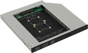 """(199426)  Адаптер оптибей Orient UHD-2MSC9 (для подключения mSATA SSD 2.5"""" к ноутбуку вместо оптического привода 9.5мм)"""