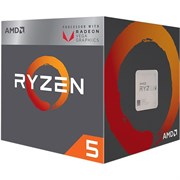 (1012345) Процессор AMD Ryzen 5 2400G BOX <65W, 4C / 8T, 3.9Gh(Max), 6MB(L2+L3), AM4> RX Vega Graphics (YD2400C5FBBOX)