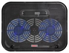 """(1012362) Подставка для ноутбука Buro BU-LCP140-B214H 14""""338x255x22мм 1xUSB 2x 140ммFAN 480г металлическая сет"""