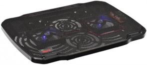 """(1012363) Подставка для ноутбука Buro BU-LCP156-B208 15.6""""355x260x21мм 2xUSB 2x 80ммFAN 560г металлическая сет"""