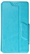 """(1012485) Универсальный чехол-книжка Smarterra STICKER M 4.4""""- 5.0"""" (Голубой)"""